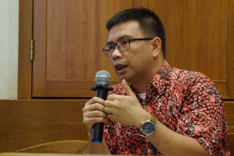 Direktur Eksekutif ICJR Supriyadi Widodo Eddyono dalam diskusi di Jakarta, Minggu (8/10/2017).