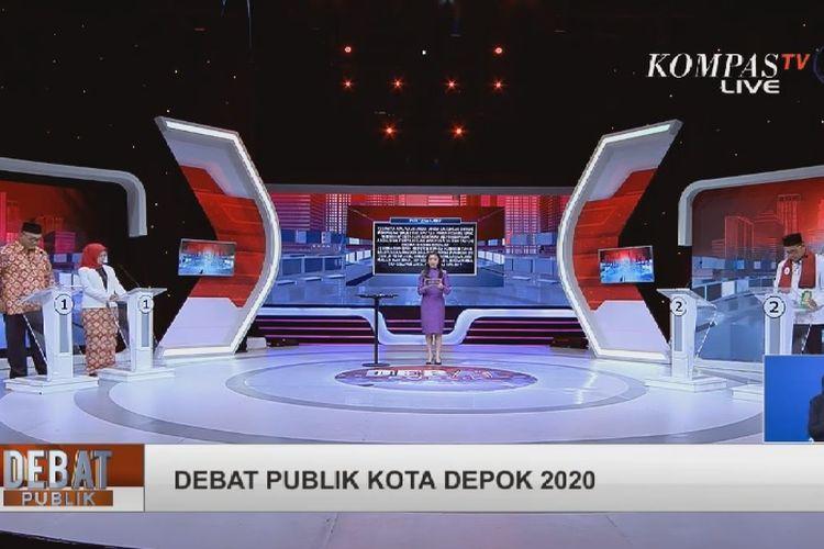 Debat kandidat Pilkada Depok, Senin (30/11/2020).