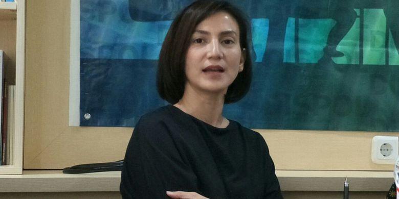 Ketua Garnita Malahayati Partai Nasdem DKI Jakarta, Wanda Hamidah ketika ditemui dalam diskusi yang digelar Vox Point Indonesia bertajuk Berebut Suara Milineal di Jakarta, Kamis (1/3/2018).