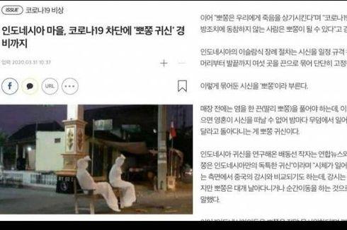 Foto Pocong Jaga Desa Saat Pandemi Corona Viral di Korea Selatan