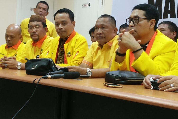 Ketua DPPPartai BerkaryaBadaruddin Andi Picunang di Jalan Brawijaya IX, Jakarta Selatan, Kamis (12/3/2020).