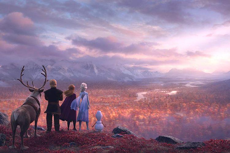 Salah satu adegan dalam film Frozen II keluaran Walt Disney Animation Studios