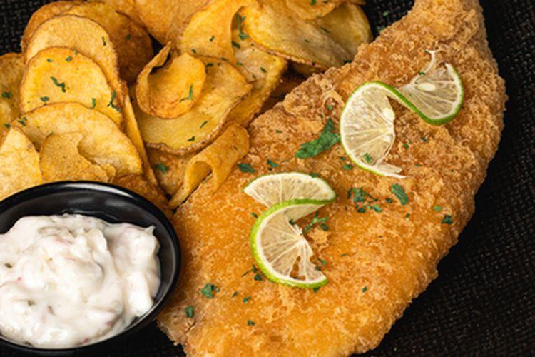 Fish and chips dari tepung sagu.