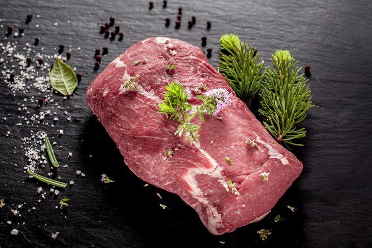 Ilustrasi daging celeng atau babi hutan.