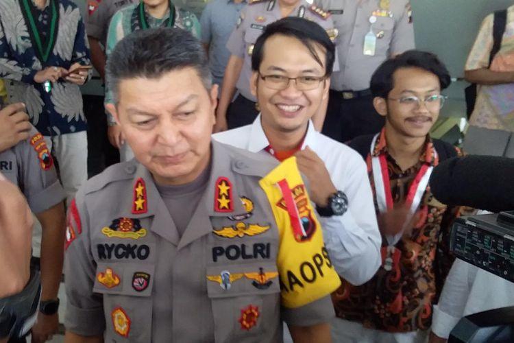 Kapolda Jateng Irjen Rycko Amelza Dahniel saat menemui awak media di Mapolda Jateng.