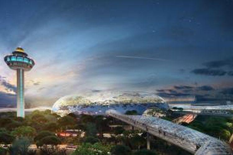 Bandar Udara Changi (CAG), Singapura hari ini (19/8/2013) meluncurkan konsep terbarunya atas rencana pembangunan