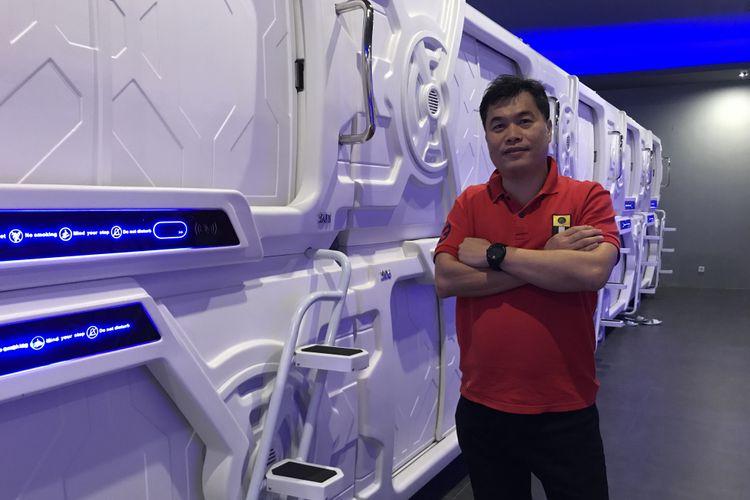 Rudy Josano, pemilik hotel kapsul di Bandara Soekarno-Hatta, Tangerang