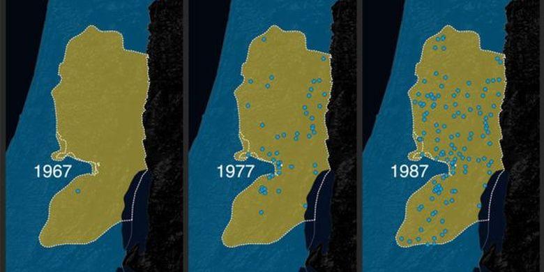 Skema pencaplokan (aneksasi) wilayah Tepi Barat Palestina oleh Israel.