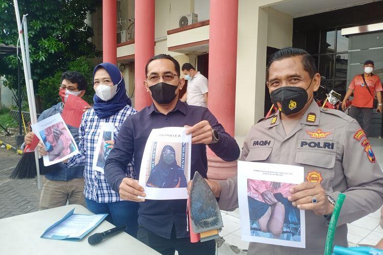 Kasatreskrim Polrestabes Surabaya AKBP Oki Ahadian saat rilis kasus kekerasan terhadap ART di Surabaya, Rabu (19/5/2021).
