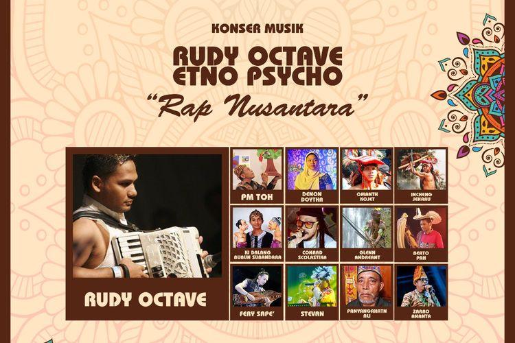 Bentara Budaya Jakarta kembali menggelar Musik Kamisan mengangkat tema Rap Nusantara pada Kamis, 14 Maret 2019, Pk. 19.30 WIB