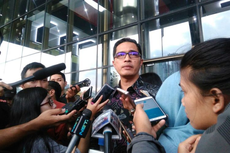 Juru Bicara Komisi Pemberantasan Korupsi (KPK) Febri Diansyah di Gedung KPK, Jakarta, Senin (3/7/2017).