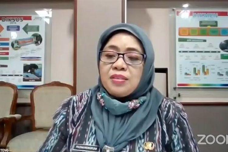 Plt. Kepala Dinas Pendidikan dan Kebudayaan Jawa Tengah Padmaningrum dalam webinar bertema Tarik Ulur Pembelajaran Jarak Jauh, Selasa (25/8/2020).