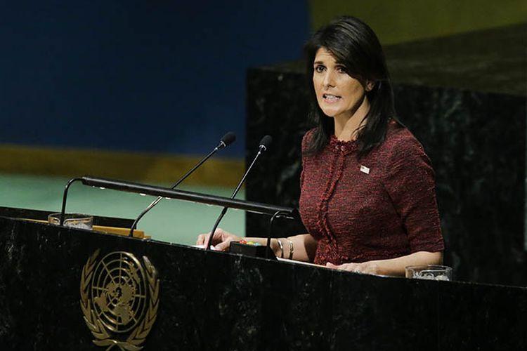 Duta Besar Amerika Serikat untuk PBB Nikki Haley menegaskan pemerintah AS tetap akan menempatkan kantor kedutaannya untuk Israel di kota Yerusalem.