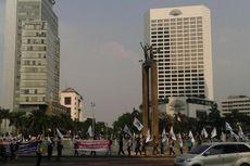 Demo di Bundaran HI, Buruh Sampaikan Instruksi Prabowo Tinggalkan KPU