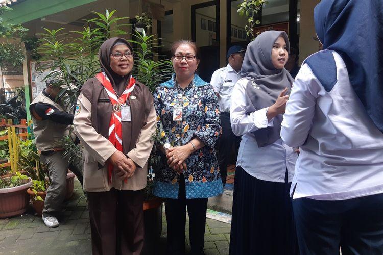 Kepala Sekolah SDN 05 Pagi Sri Endang Handayaningsih, saat ditemui di SDN 05 dan 14 Kapuk, Jakarta Barat, Rabu (26/2/2020)