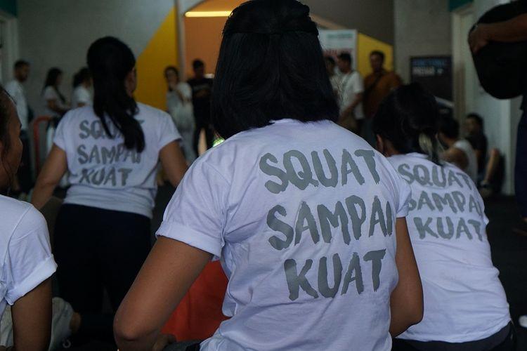 Keramaian dalam acara peresmian FitNest -functional training gym di Jalan Paledang, Bogor, Sabtu (18/1/2020).
