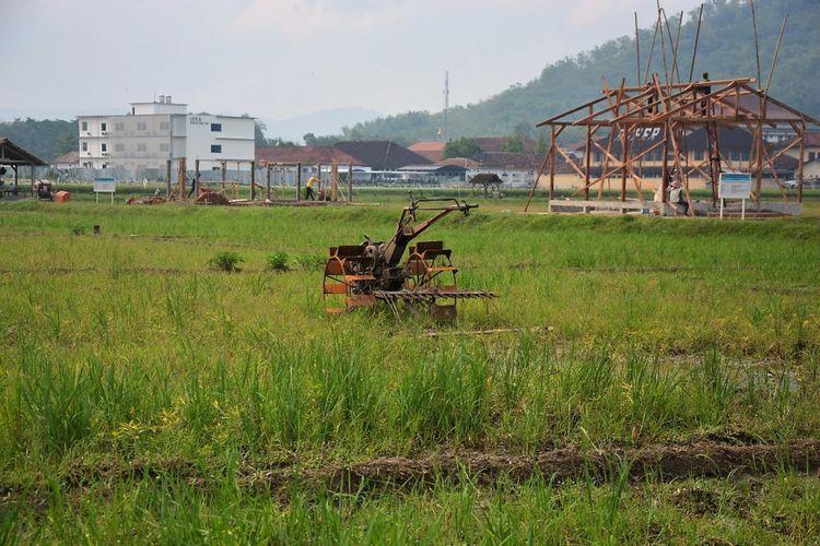 Lahan pertanian produktif yang akan dialihkan sebagai lahan terbangun di kawasan strategis Kabupaten Trenggalek, Jawa Timur