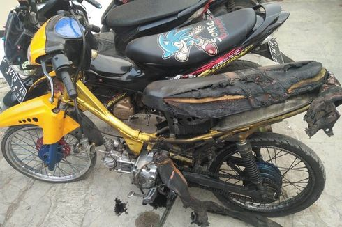 Duduk Perkara Pemuda Bakar Motor di Depan Polisi, karena Ditilang dan Takut Disita