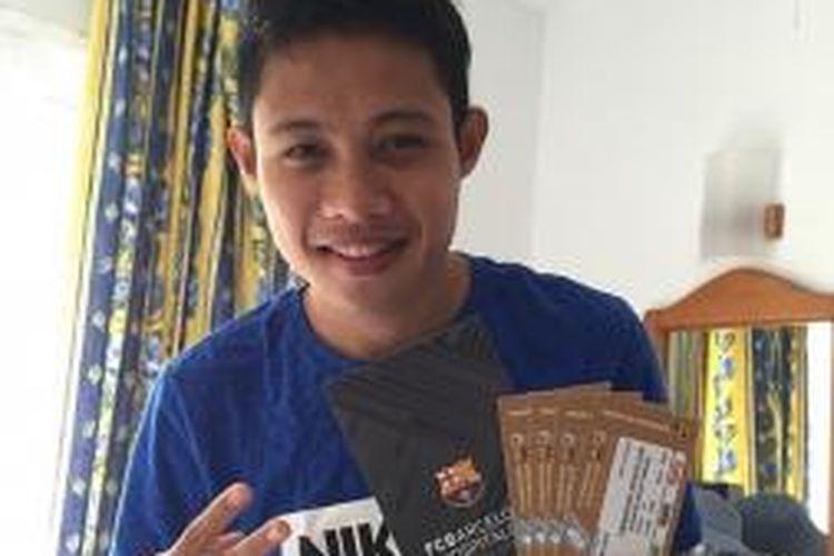 Gelandang tim nasional Indonesia, Evan Dimas Darmono.