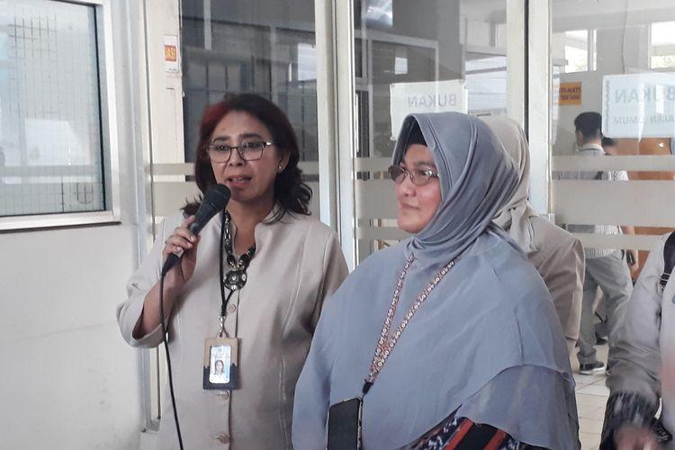 Jajaran direksi RSUP Persahabatan kepada awak media di RSUP Persahabatan, Jakarta Timur, Senin (9/3/2020).