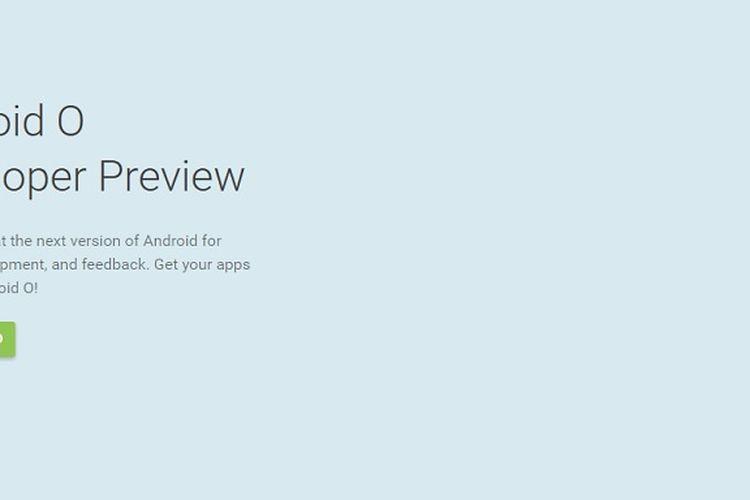 Android O versi pengembang.
