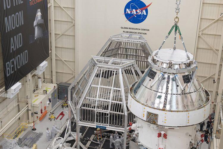 Wahana antariksa, Orion Spacecraft untuk misi Artemis ke Bulan di NASA Plum Brook Station.