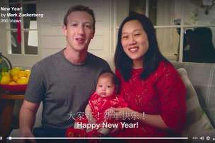 Mark Zuckerberg dan keluarga ucapkan selamat Tahun Baru China bagi netizen