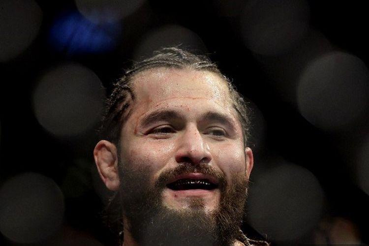 Petarung UFC asal AS Jorge Masvidal saat melawan Nate Diaz dalam pertarungan kejuaraan kelas welter UFC 244 di Madison Square Garden pada 02 November 2019 di New York AS.