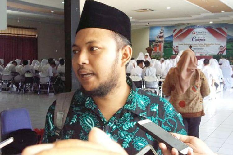 Ketua Bawaslu Kabupaten Jombang, Ahmad Udi Masykur, usai menjadi pembicara tentang pengawasan Pemilu di kampus STIKES ICME Jombang, Selasa (27/11/2018).