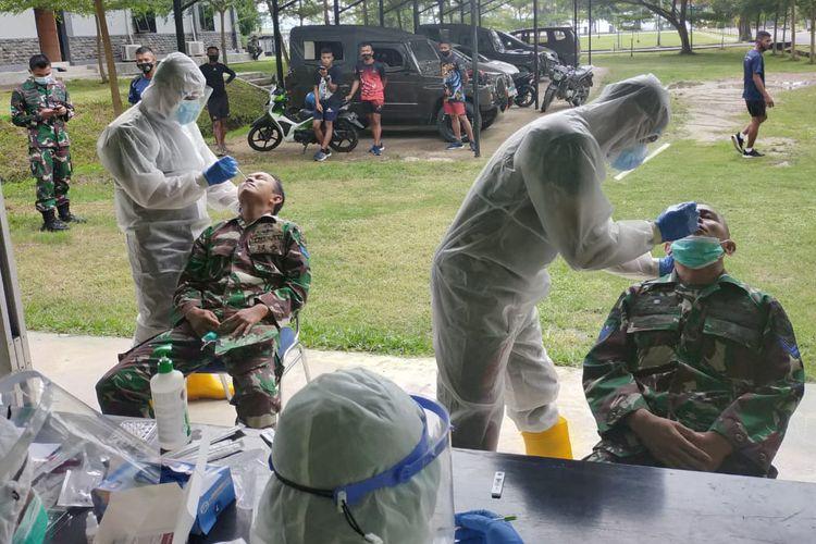 Pulang Tugas Amankan Unjuk Rasa di Jakarta, 64 Marinir Lampung Positif Covid-19