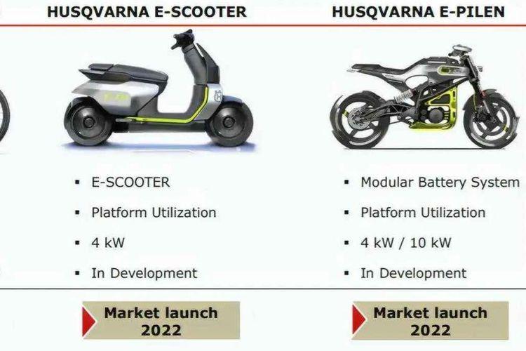 Motor listrik Husqvarna meluncur di 2022
