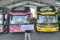 Bus Pariwisata di Banyumas Konvoi Keliling Kota, Kibarkan Bendera Putih