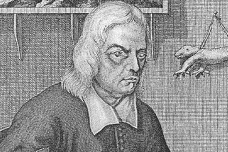 Ilustrasi potret Georg Eberhard Rumphius, ahli botani asal Jerman yang meneliti ragam tanaman di Ambon, Indonesia. [Via penelope.uchicago.edu]