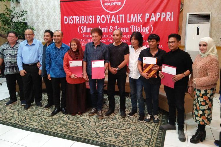 Distribusi royalti LMK PAPPRI di Jakarta, Rabu (15/5/2019).