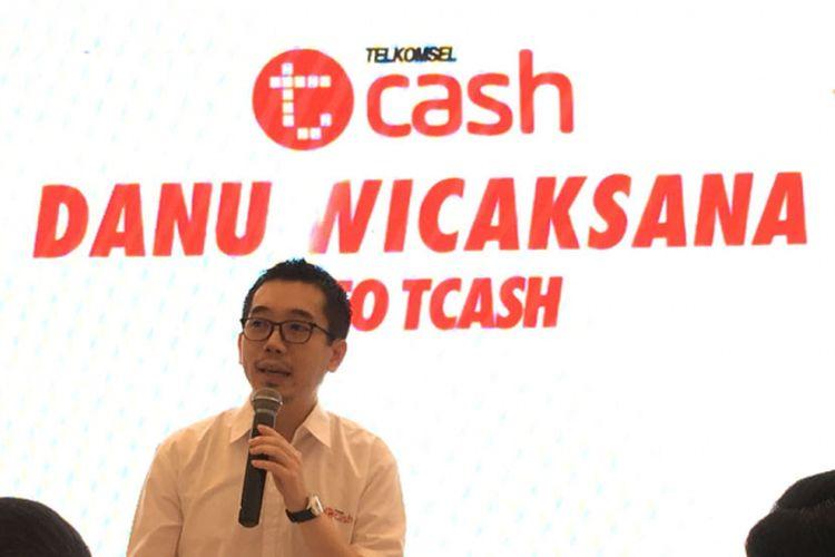 CEO Tcash, Danu Wicaksana dalam acara media gathering di Jakarta, Kamis (24/5/2018).