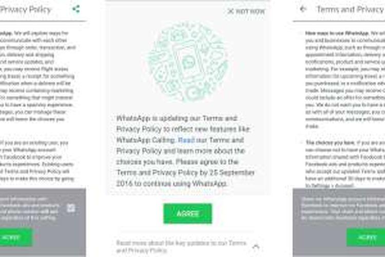 Syarat baru penggunaan WhatsApp
