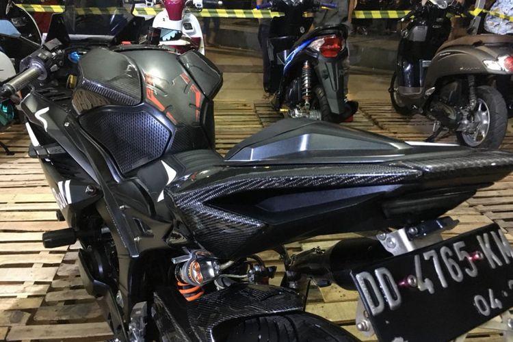 Honda CBR250RR berbalut body carbon, juara HMC Makassar 2018 kelas Sport Fairing.