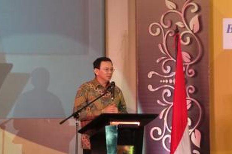 Gubernur DKI Jakarta Basuki Tjahaja Purnama membuka Rakerda REI (Real Estate Indonesia) DKI, di Hotel Ritz Carlton, Selasa (1/12/2015).