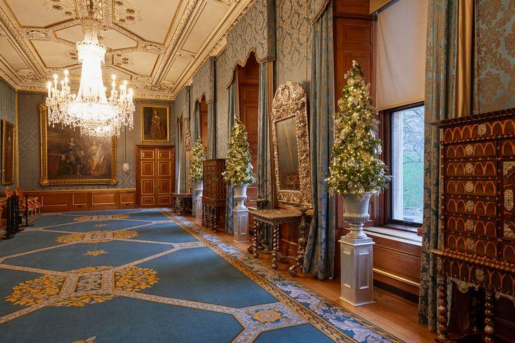Dekorasi natal di Windsor Castle.