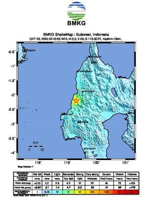 Gempa Hari Ini: M 5,3 Guncang Mamuju Tengah, Picu Kerusakan