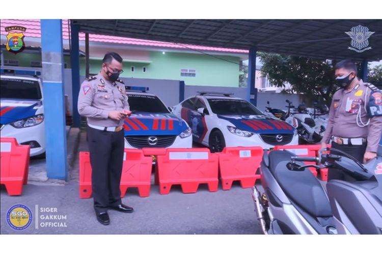 Mengukur kebisingan knalpot yang benar saat razia knalpot menurut polisi