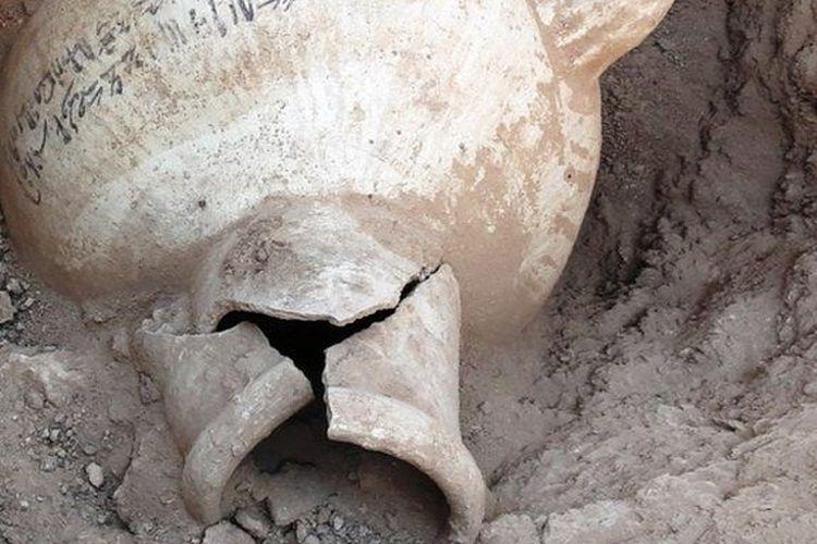 Se encontraron objetos en el sitio de excavación.