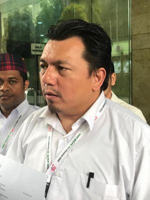 Direktur Hukum dan Advokasi Tim Kampanye Nasional (TKN) Joko Widodo-Maruf Amin, Ade Irfan Pulungan, di Kantor Bareskrim Polri, Gambir, Jakarta Pusat, Kamis (8/11/2018).