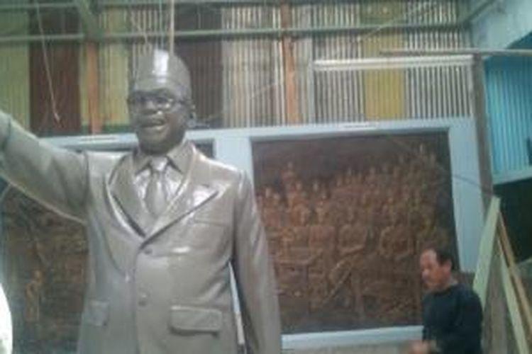 Patung enam presiden Indonesia dibuat di Bantul.