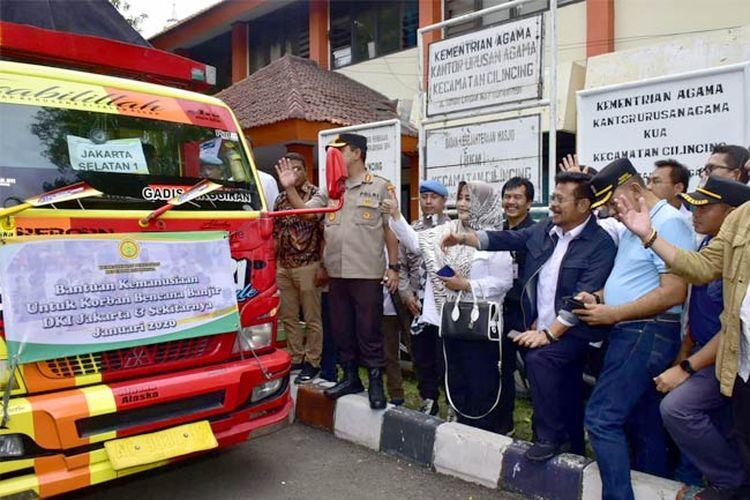 Menteri Pertanian Syahrul Yasin Limpo di Kantor Camat Cilincing, Jakarta Utara, Sabtu (4/1).