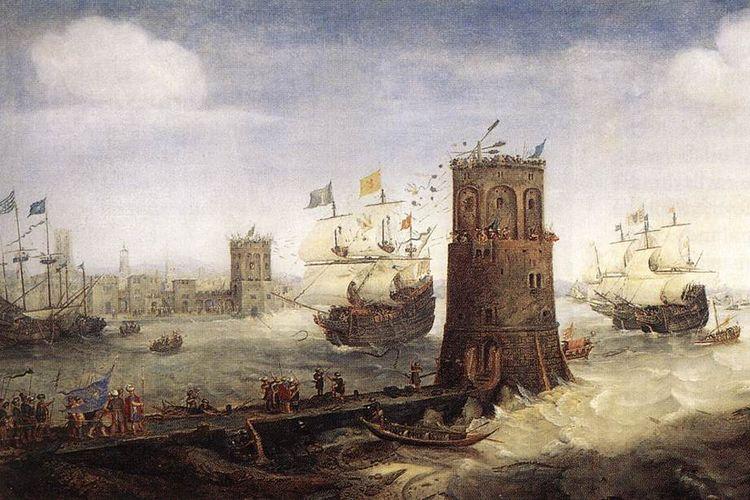 Peristiwa penaklukkan Damiatte pada Perang Salib Kelima.