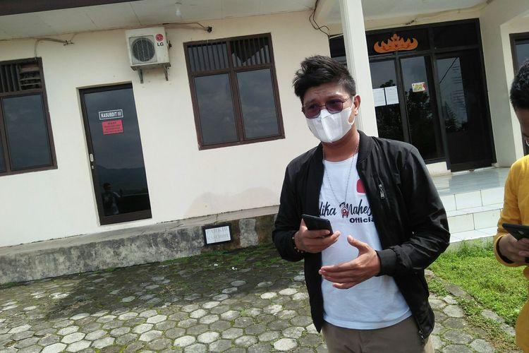 Mahesa Andika Kangen Band saat di Ditnarkoba Polda Lampung, Rabu (10/2/2021) pagi.