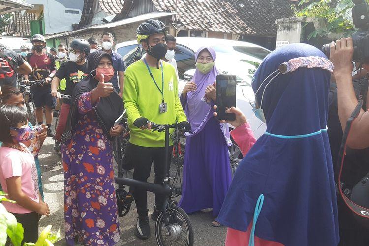 Wali Kota Solo Gibran Rakabuming Raka mengikuti kegiatan mider projo pada Jumat (5/3/2021).