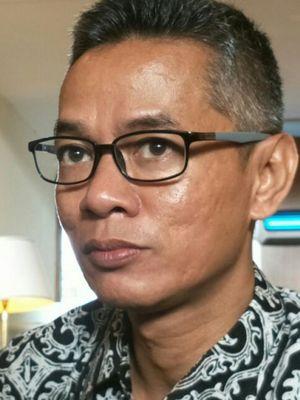Komisioner KPU RI, Wahyu Setiawan ketika ditemui di Hotel Sari Pan Pacific, Jakarta, Senin (26/2/2018).