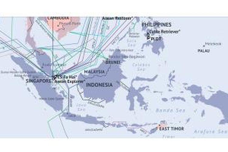 Peta jaringan kabel optik Internet